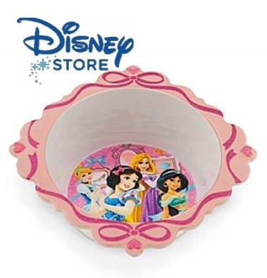Disney Princess Melamine Bowl Featuring Cinderella, Snow White, Rapunzel, Jasmine and Tiana.