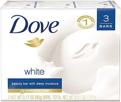 Dove Beauty Bar, White 3.17 oz, 3 bar