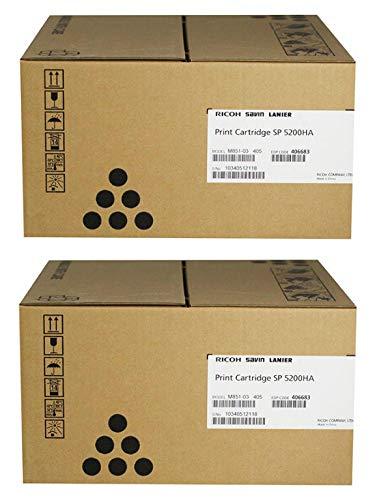 Toner Original RICOH 406683 Black Sold as 2 Each