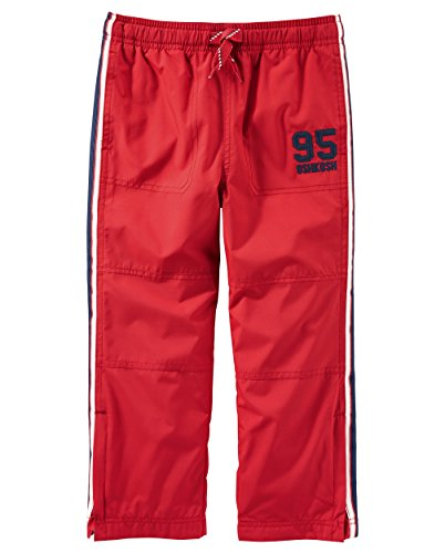 Osh Kosh Big Boys' Classic Fit Matte Active Pant, Red, 7 (Active Boys Pants)