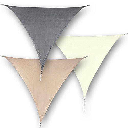 hanSe-Marken-Sonnensegel-Sonnenschutz-Segel-Dreieck-3x3x3-m