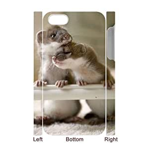 FLYBAI Cute Weasel Phone 3D Case For Iphone 4/4s [Pattern-4]