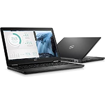 "Dell X1W6W Latitude 5580 Laptop, 15.6"" FHD, Intel Core i7-7820HQ, 16GB DDR4, 256GB Solid State Drive, Windows 10 Pro"