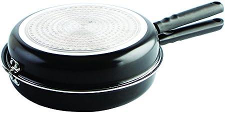 Sartén doble para tortilla,Fabricada en aluminio,Revestimiento antiadherente,Con cierre de seguridad