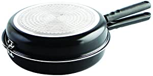 Quid Gastro Fun - Sartén doble para tortilla, 26 cm, color negro
