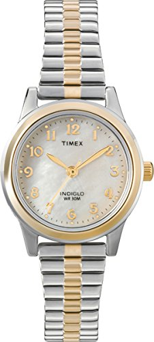 Night Indiglo Light Timex (Timex Women's T2M828 Essex Avenue Two-Tone Stainless Steel Expansion Band Watch)