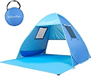 Wilwolfer Pop Up Baby Beach Tent Portable UV Protection Auto Canopy Beach Sun Shelter Shade Cabana for Outdoor