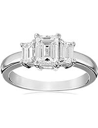 1 1/2 cttw Emerald-Cut Three-Stone Diamond Engagement Ring