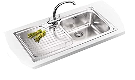 Fabulous Franke Galassia Gax 611 Inset Kitchen Sink Single 1 0 Bowl Left Hand Drainer Home Interior And Landscaping Oversignezvosmurscom