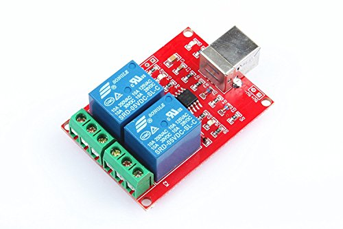 KNACRO SRD-05VDC-SL-C 2-Way 5V Relay Module Free Driver USB Control Switch PC Intelligent Control by KNACRO (Image #7)