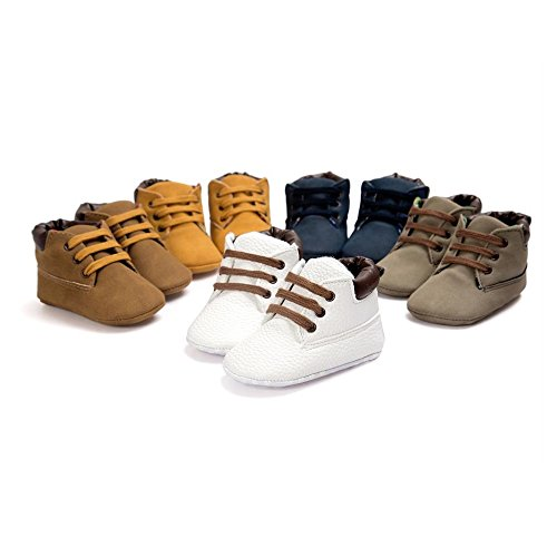 R&V 0-18M Infant Baby Boy's Girl's Faux Suede Shoes Sneakers Toddler Warm (Suede Girls Shoes)