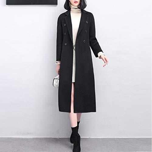 Lunghe Giacca Vioy Autunno E In Maniche Vento Coat Caldo Donna Boucle nero xl Inverno Da Ricamo Lana Vintage A Pw4wrI1q