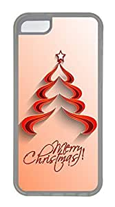 LJF phone case Durable Mobile Phone Protection Shell Contracted Red Christmas TreeCases For iphone 4/4s - Summer Unique Wholesale 5c Cases Transparent Soft Edge Case