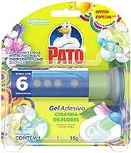 Desodorizador Sanitário Pato Gel Adesivo Aplicador + Refil Ciranda de Flores Ed. Ltda Oferta 6 Discos, Pato