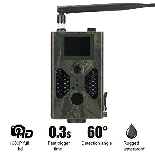 ZMM Cámara de Rastro de Vida Silvestre, 4G al Aire Libre cámara de vigilancia Impermeable Cazador Trail Caza Sistema de...