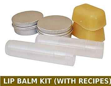 Green Junction Diy Lip Balm Making Kit Beeswax 2 Lip Balm Tubes 2 Lip Balm Tins Recipes