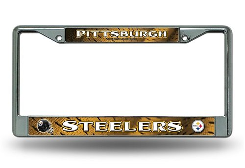 NFL Pittsburgh Steelers Chrome Licensed Plate Frame Logo License Plate Nfl Football