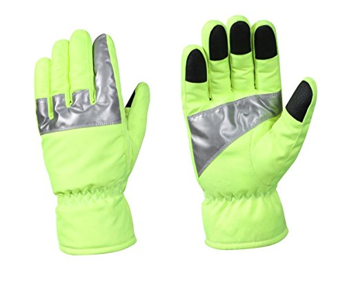 Rothco Safety Green Gloves with Reflective Tape, Small