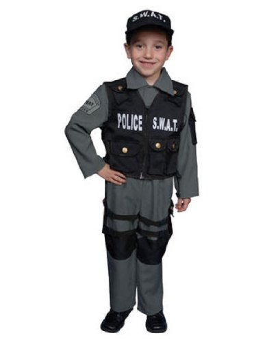 S.W.A.T Police Officer Children's Costume Size: Small (Hollywood Quality Kids Costumes)