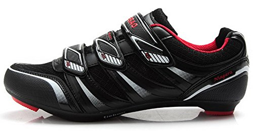Tiebao Fiberglass-Nylon Road Bicycle Cycling Spin Bike Cycling Shoe SPD SL Look Strada Mesh Breathable Ultralight Mens Womens Cycling Shoe