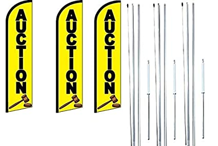 ALIGNMENT Yellow Windless Full Curve Top Advertising Feather Swooper Flag