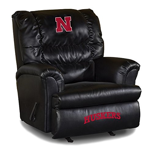 Imperial Officially Licensed NCAA Furniture: Big Daddy Leather Rocker Recliner, Nebraska Cornhuskers (Big Chair Daddy Team Recliner)