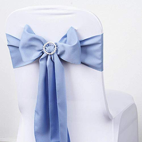 Event Wholesales Satin Chair Sashes 6 x 108 inches - Pack of 10 (Light -
