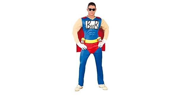 FIESTAS GUIRCA Hombre superhéroe Traje Beerman Cerveza: Amazon.es ...