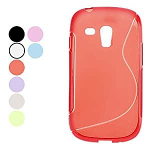 conseguir Caso simple Soft Style para Samsung Galaxy S3 I8190 Mini (colores surtidos) , Negro