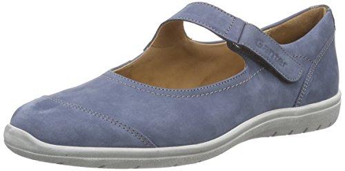 Ganter Gill, Weite G - Bailarinas Mujer Azul - Blau (jeans/antrazit 3462)
