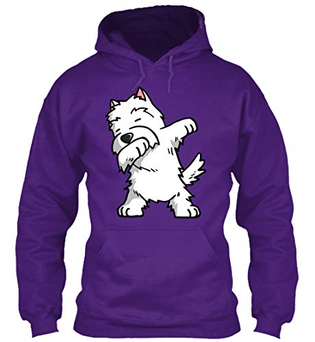 (teespring Westie Funny Tshirt 3XL - Purple Sweatshirt - Gildan 8oz Heavy Blend Hoodie for Men & Women)