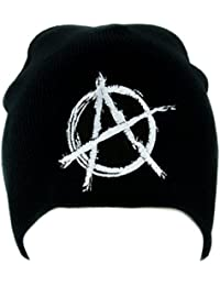 White Anarchy Sign Beanie Knit Cap Alternative Clothing Punk Rock Revolution