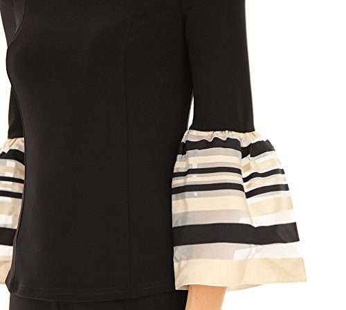 Joseph Ribkoff Off Shoulder Striped Sleeve Blouse - Style 181912 at Amazon Womens Clothing store: