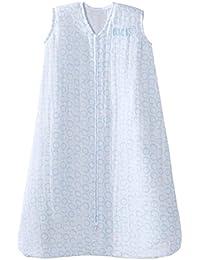 100% Cotton Muslin SleepSack Wearable Blanket, Circles Turquoise, Medium