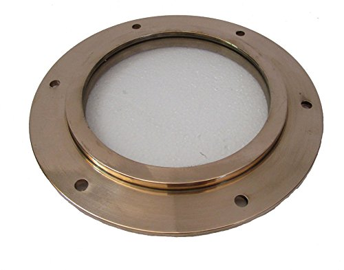 Marine Brass Port Hole/Window/Porthole - 6 INCHES Nautical/Boat/Maritime (5219)