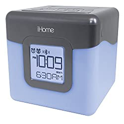 iHome Bluetooth Color Changing Dual Alarm Clock FM Radio with USB Charging, Multi-Color, Five Color LED (Certified Refurbished)