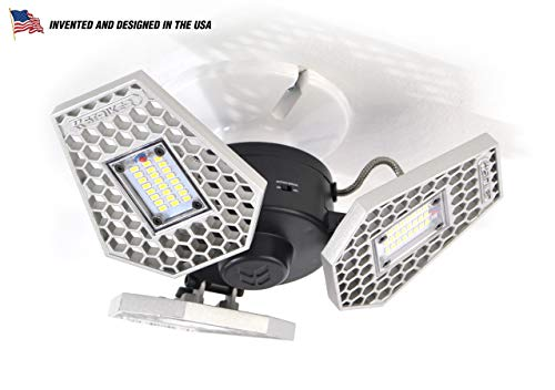 - Striker Concepts 00342 TRiLIGHT 3000 Lm Screw-in Motion-Activated Ceiling Light