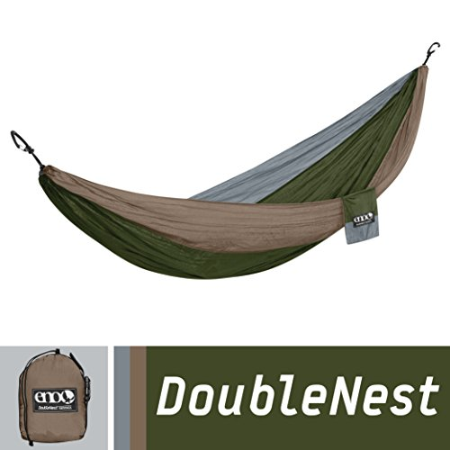 Eagles Nest Outfitters - DoubleNest Hammock, Khaki/Olive/Silver