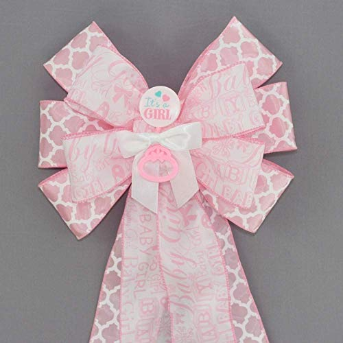 - It's a Girl Pink Baby Shower Bow - 10