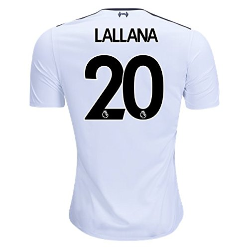 LALLANA #20 LIVERPOOL 17/18 AWAY Soccer Jersey Men's Color WHITE Size L (20 Away Soccer Jersey)