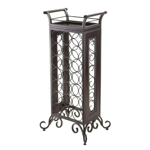 Winsome Silvano Wine Rack with Removable Tray, Dark ()