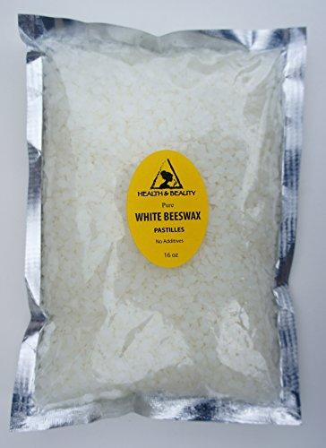 White Beeswax Bees Wax Organic Pastilles Beards Premium Prime Grade A 100% Pure 16 oz, 1 LB