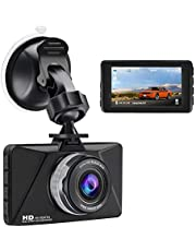 """Dash Cam 1080P Full HD Car Camera Dashcam for Cars 170 Wide Angle HDR with 3.0"""" LCD Display Night Vision Motion Detection and G-sensor,Loop Recording,Parking Monitor"""