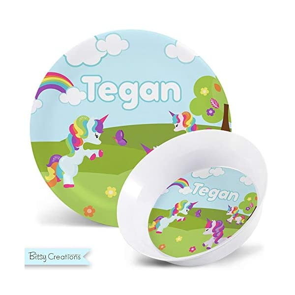 Rainbow Unicorn Plate - Personalized Plate for Kids 7