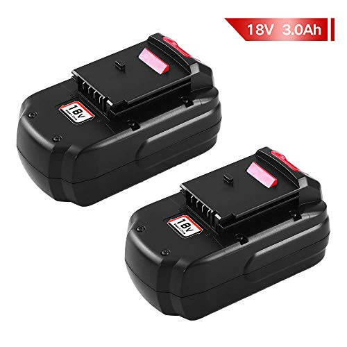PC18B for Porter Cable 18V Nicd Battery Replacement 3.0Ah PCC489N PC1801D PC188 PCMVC PCXMVC for Porter Cable 18 Volt Battery -2Packs -
