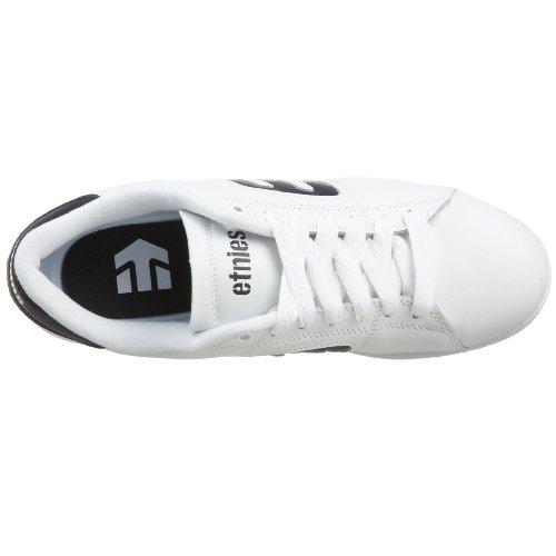 Etnies - Zapatillas de skateboarding de cuero para hombre Blanco