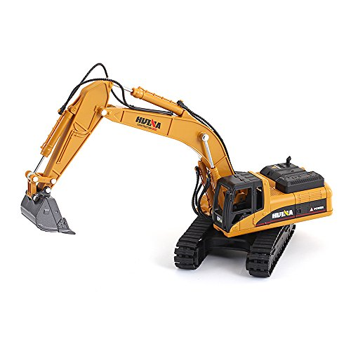 1/50 Scale Diecast Crawler Excavator Construction Vehicle Car Models Toys for Kids by HuiNa (Image #2)
