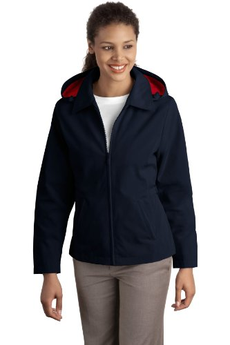 Port Authority Ladies Legacy Jacket, Dark Navy/Red, S