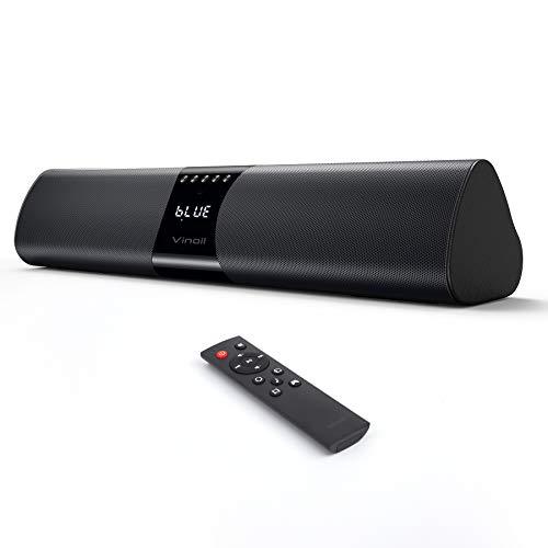 PC Soundbar, 20W Bluetooth Computer Speaker, Wired and Wireless Mini TV Soundbar for Desktop Laptop, Portable Soundbar…