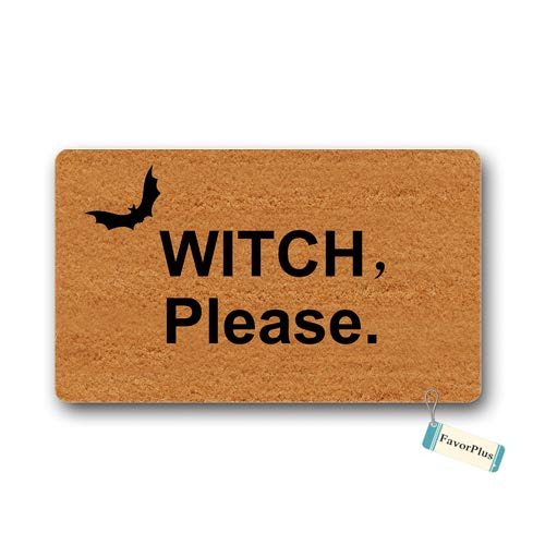 Doormat Witch Please Halloween Welcome Entrance Outdoor/Indoor Non Slip Decor Funny Floor Door Mat Area Rug for Entrance 15.7X23.6 -